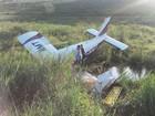 Aeronave faz pouso forçado em pasto  (4ª Corpaer PMMG/ Divulgação)