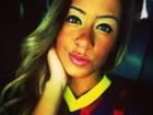 Irmã de Neymar posa com camisa do Barcelona: 'Friozinho na barriga'