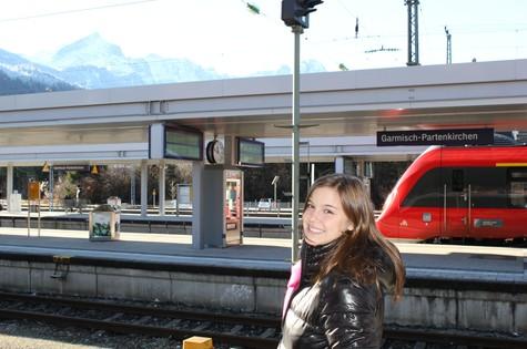 Alice Wegmann em Garmisch-Partenkirchen, na Alemanha (Foto: Arquivo pessoal)