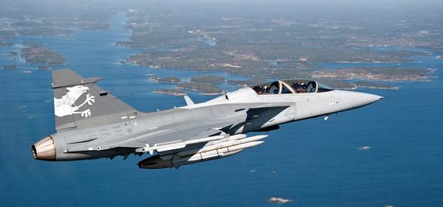 Gripen E3: modelo de caça escolhido pela Força Aérea Brasileira (Foto: Divulgação/Saab)