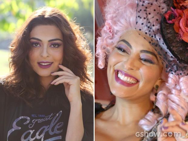 Juliana Paes usa o mesmo tom que a sua personagem, Maria catarina (Foto: Meu Pedacinho de Chão/TV Globo)