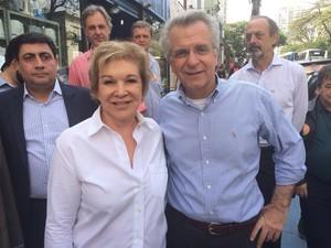 Marta Suplicy e Matarazzo visitam a Lapa (Foto: Tatiana Santiago/G1)