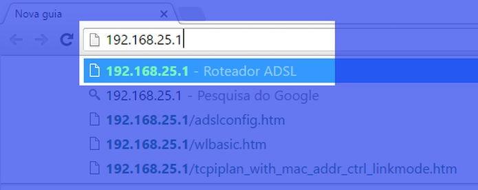 Digite o número IP de seu roteador (Foto: Felipe Alencar/TechTudo)