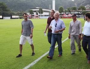 Comitiva da seleção suiça de futebol, CT Rei Pelé (Foto: Divulgação / Prefeitura de Santos)