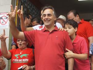 Luciano Cartaxo em João Pessoa (Foto: Jorge Machado/G1)