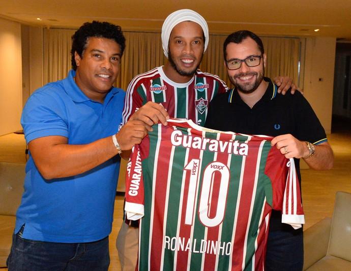 Ronaldinho Assis Mario Biuttencourt Fluminense (Foto: Alexandre Vidal / Agência FotoBR)