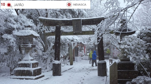 Clima extremo Japão (Foto: Shizuo Kambayashi/AP)
