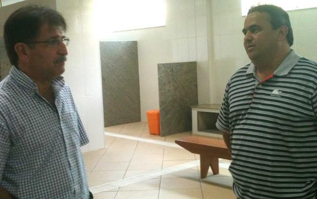 René Simões Vasco visita CT Pinheiral (Foto: Divulgação/Fair Play Assessoria)
