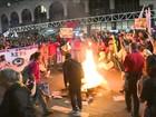 Ato contra o afastamento de Dilma da presidência fecha Avenida Paulista