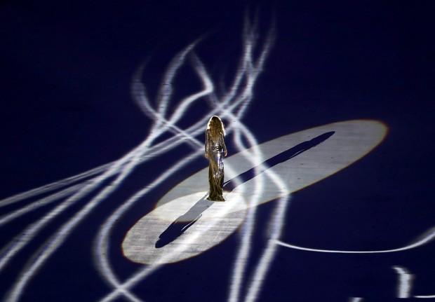Gisele Bündchen participa de cerimônia de abertura dos Jogos Olímpicos Rio 2016 (Foto: REUTERS/Lucy Nicholson)