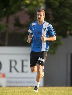 Bruno Uvini zagueiro Santos (Foto: Ricardo Nogueira / Divulgação Santos FC)