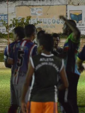 Uniclinic, Barbalha, Confusão, Inaldão, Cearense (Foto: Eugênia Else/Rota Esportiva)