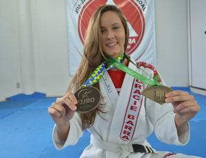 Jardelle Czelusniak, lutadora de RO (Foto: Matheus Henrique)