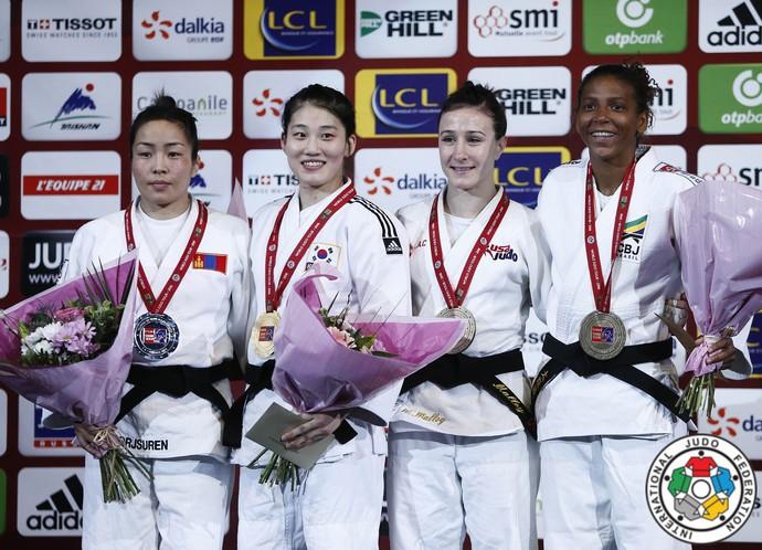 Rafaela Silva bronze Grand Slam de judô de Paris  (Foto: IJF Media by G. Sabau)