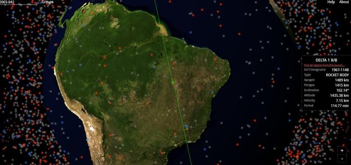 Veja os objetos em órbita da terra com mapa 3D em tempo real (Foto: Reprodução/Barbara Mannara)