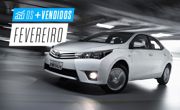 Os mais vendidos de fevereiro: Toyota Corolla (Foto: Autoesporte)