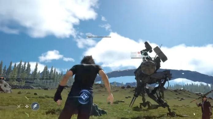 Final Fantasy XV: o inimigo é forte e ataca no nível 99 (Foto: Reprodução/Thomas Schulze)