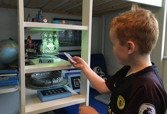 Braydon Bent torcedor Manchester City (Foto: Ivan Raupp)