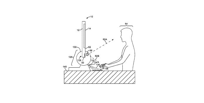 Patente da Apple descreve teclado holográfico para iMac (Foto: Reprodução/US Trademark & Patent Office)