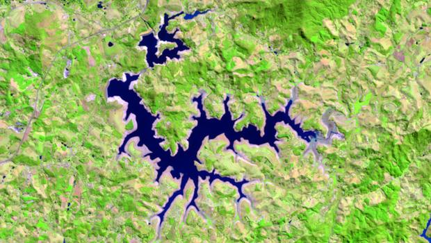 Reservatório Jaguari em 2014 (Foto: Divulgação )