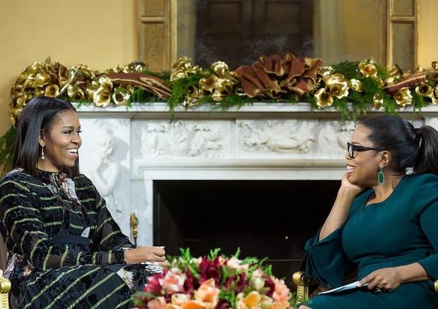 Michelle Obama e Oprah (Foto: Reprodução)