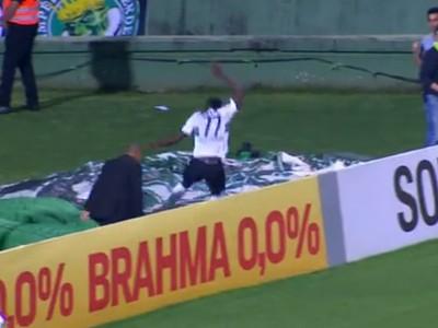 Joel caindo gol Coritiba (Foto: Reprodução)