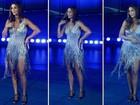 Ivete usa look de R$ 25 mil bordado com cristais em gravação de DVD