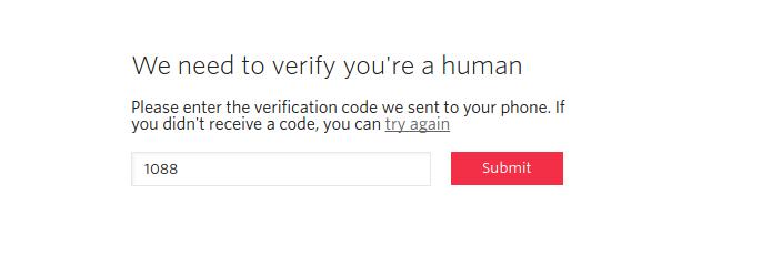 Inserindo o código recebido via SMS para confirmar a conta (Foto: Reprodução/Edivaldo Brito)