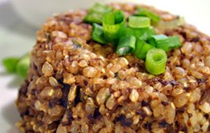Hambúrguer de arroz integral sem glúten