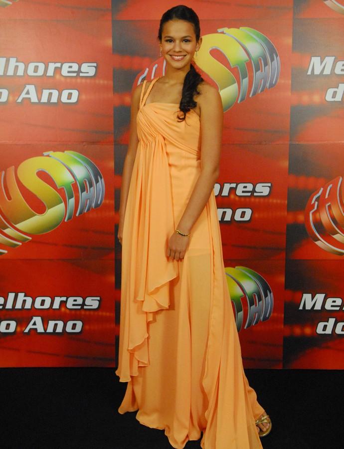 Bruna Marquezine caprichou no look para o Melhores do Ano em 2009 (Foto: João Miguel Júnior / TV Globo)