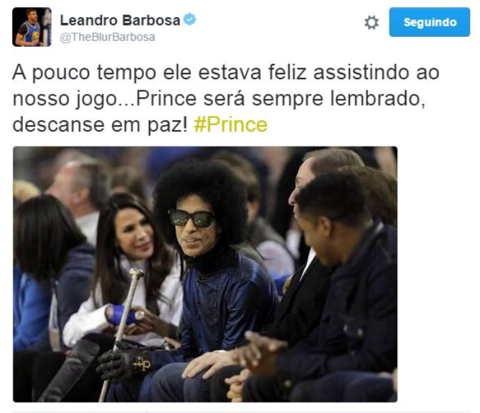 Prince, Leandrinho (Foto: Reprodução / Twitter)
