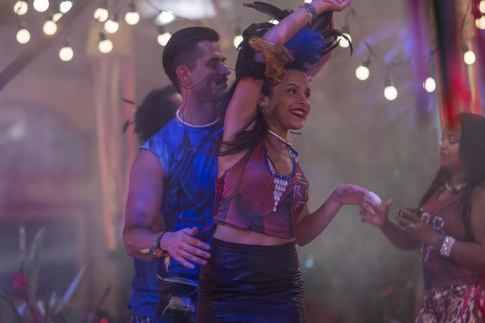 Marcos e Emilly na Festa Amazônia (Foto: Artur Meninea/Gshow)