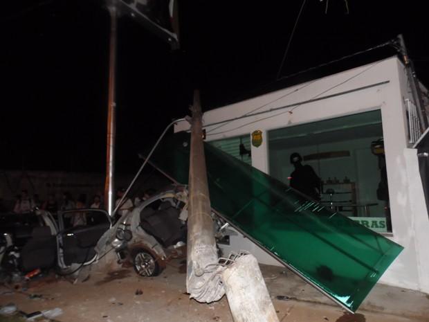 Acidente na avenida Duque de Caxias em Campo Grande (Foto: Moacir Jorge/Arquivo Pessoal)