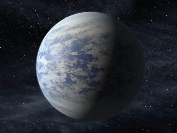 O planeta Kepler-69c é 70% maior do que a Terra e completa a órbita ao redor de sua estrela a cada 242 dias (Foto: Science@NASA/NASA's Goddard Space Flight Center)