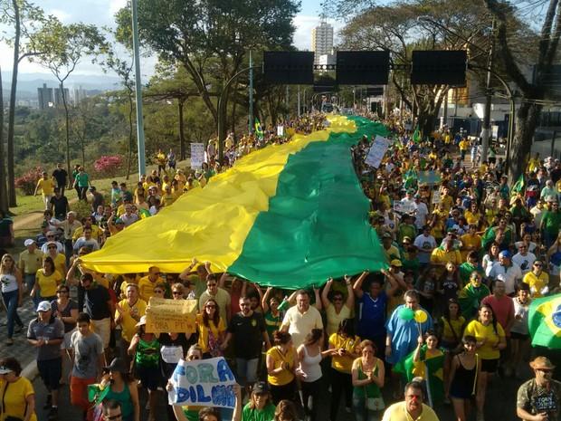 Resultado de imagem para manifestação verde e amarela