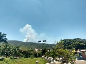 Fogo está fora de controle na região (Foto: Brigada de Resgate Ambiental de Lençóis (Bral))