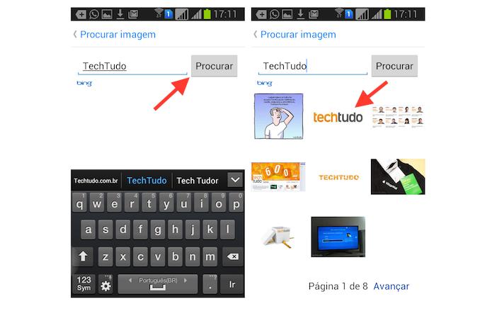 Encontrando e enviando imagens da web através do Facebook Messenger para Android (Foto: Reprodução/Marvin Costa)