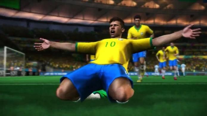 Neymar comemora a chegada do demo de Copa do Mundo Fifa Brasil 2014 no PlayStation 3 (Foto: Reprodução)