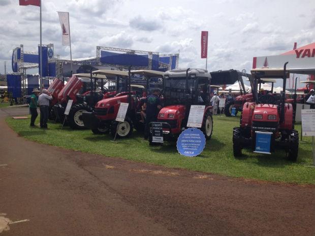 Evento em Cascavel é o primeiro do ano no setor de agronegócio do país (Foto: Franciele John/ G1)