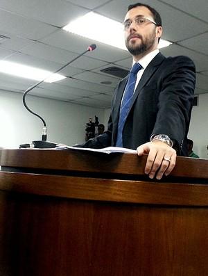 Mário Bittencourt advogado Fluminense julgamento Fred (Foto: Globoesporte.com)