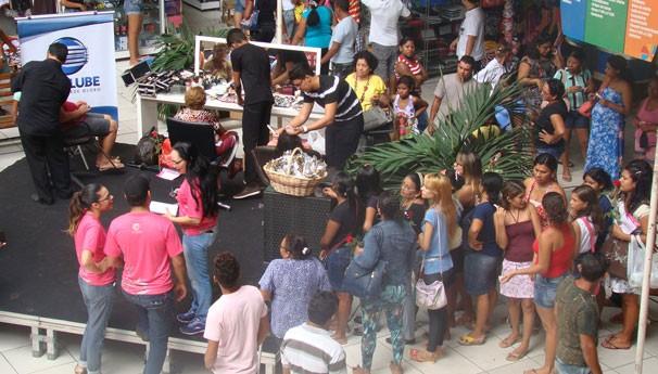 Ação da TV Clube movimentou o Shopping da Cidade (Foto: Katylenin França/TV Clube)