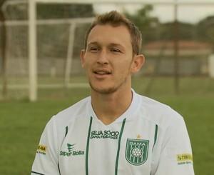 Rafael Grampola atacante Gama (Foto: Reprodução / TV Globo)