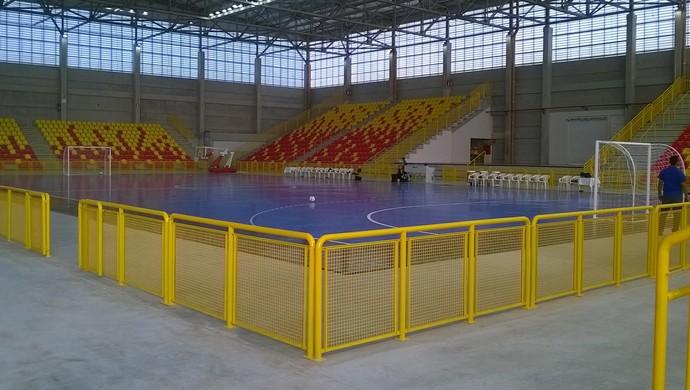 Arena Sorocaba quadra (Foto: Guilherme Giavoni)