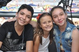 Pérola Crepaldi Rafa Gomes Wagner Barreto The Voice Kids (Foto: Roger Santmor/RPC)