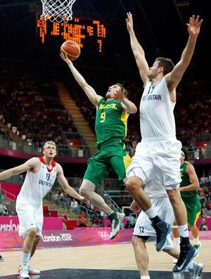 Huertas basquete brasil x gra-bretanha londres 2012 olimpiadas (Foto: Agência Reuters)