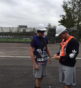 Tim Mikkelson e Scott Curry, seleção de rúgbi da Nova Zelândia, Deodoro (Foto: Divulgação)