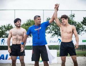 Brasileiro de Beach Wrestling luta olímpica (Foto: Renato Sette/CBW)