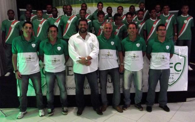 Elenco do Alecrim para 2013 é apresentado à imprensa e torcedores (Foto: Jocaff Souza/GLOBOESPORTE.COM)