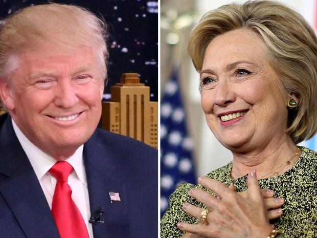 Resultado de imagem para Pesquisa mostra Hillary 11 pontos percentuais à frente de Trump