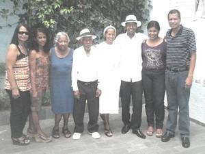 Família de casal de idosos que está junto há 70 anos em Campinas (Foto: Jorge Vicente/ Arquivo pessoal)